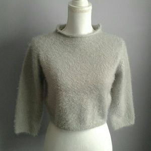 LuLu's Cropped Eyelash Sweater
